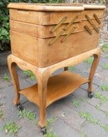 Oak Fitted Ladies Sewing Cabinet